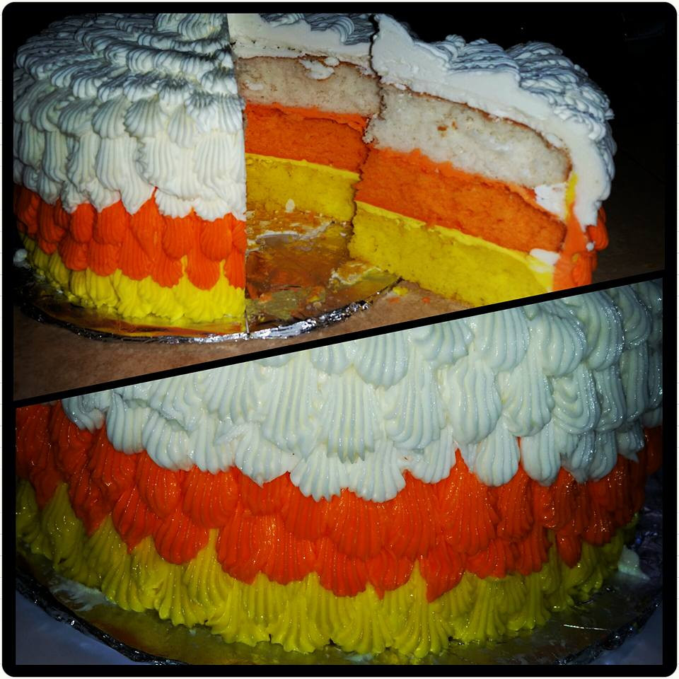 Candy Corn Cake  Candy Corn Cake – Halloween Collection – Mad Batter Bakery