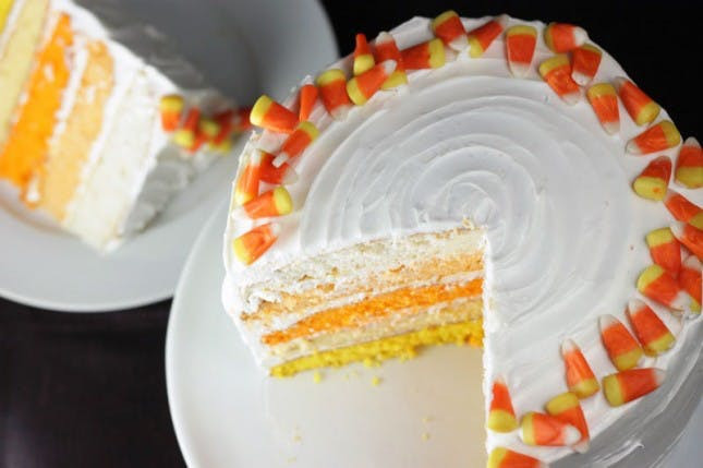 Candy Corn Cake  Spooky Sweets Ombre Candy Corn Cake