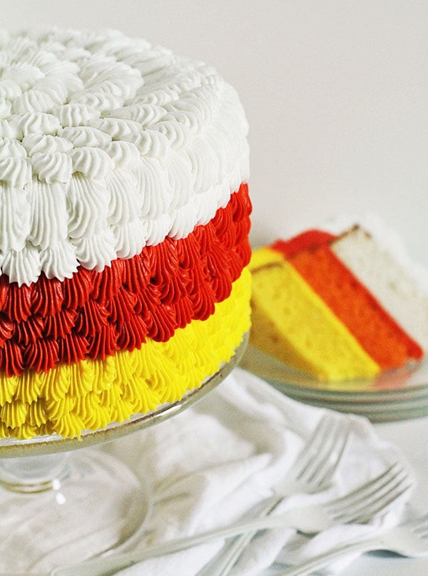 Candy Corn Cake  Candy Corn Cake cake decorating tutorial i am baker
