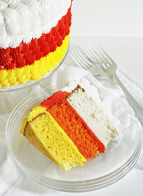 Candy Corn Cake  Candy Corn Cake cake decorating tutorial