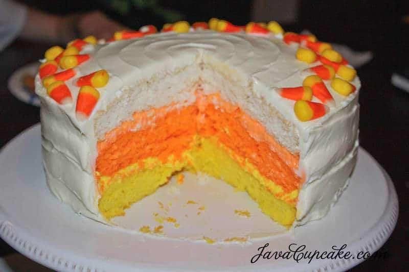 Candy Corn Cake  Candy Corn Cake JavaCupcake