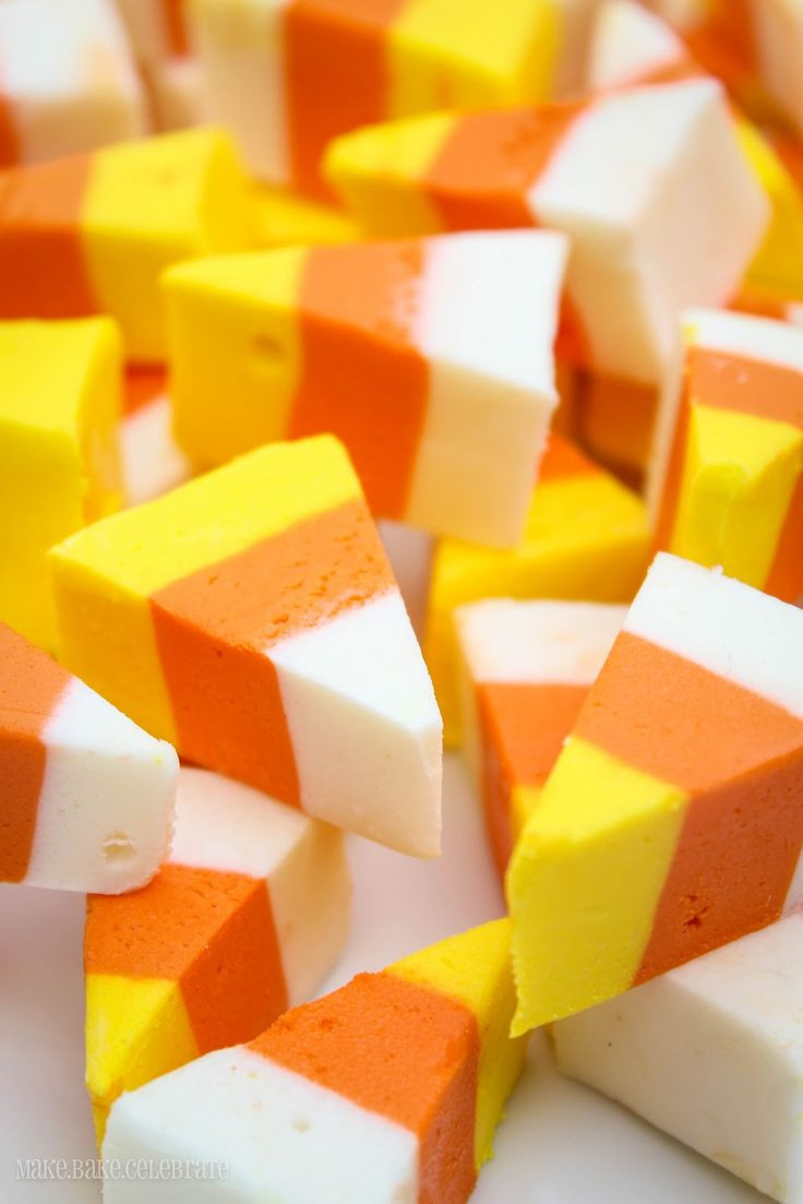 Candy Corn Ingredients  Candy Corn Fudge Recipe — Dishmaps