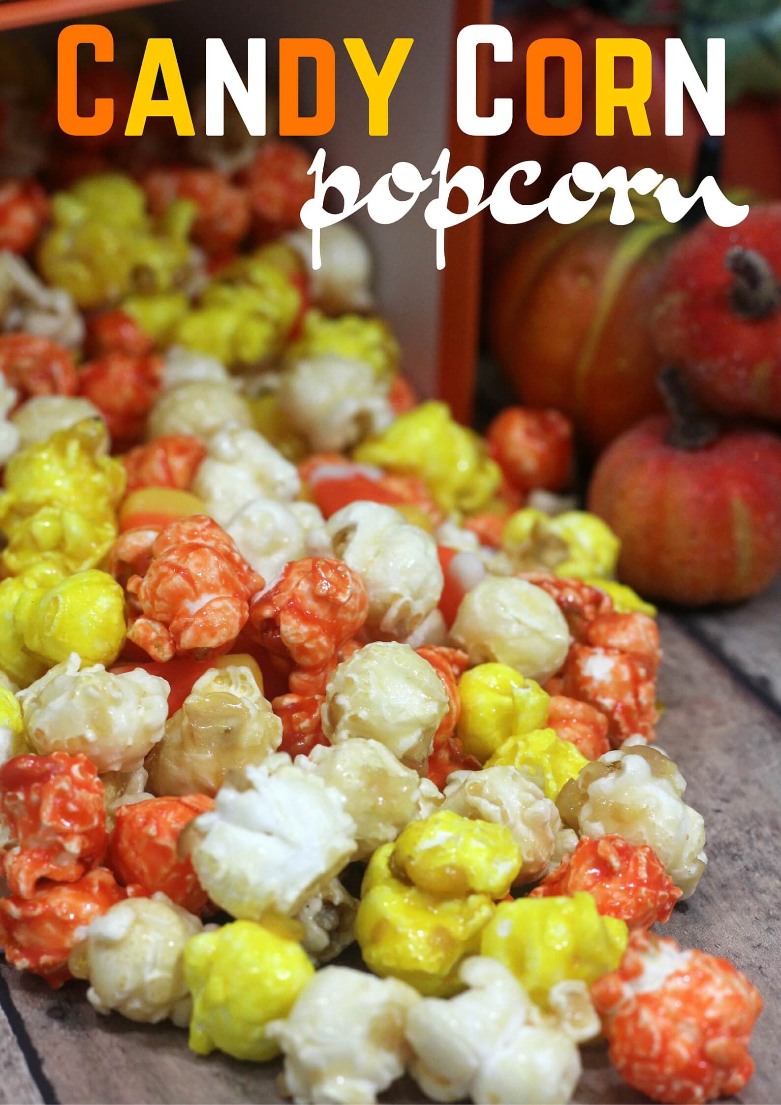 Candy Corn Ingredients  Candy Popcorn Recipe