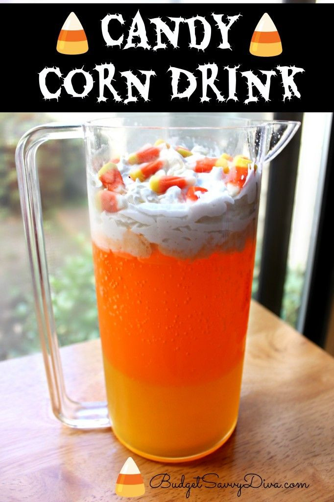Candy Corn Ingredients  Candy Corn Drink Recipe