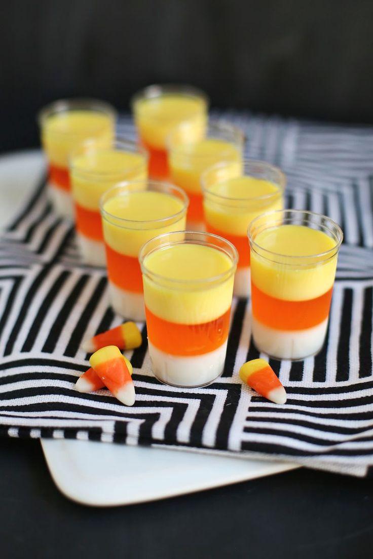 Candy Corn Jello Shots  Candy Corn Jello Shots Drinks Pinterest