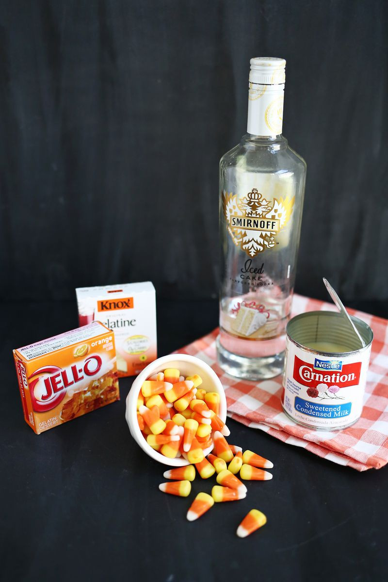 Candy Corn Jello Shots  Candy Corn Jello Shots – A Beautiful Mess