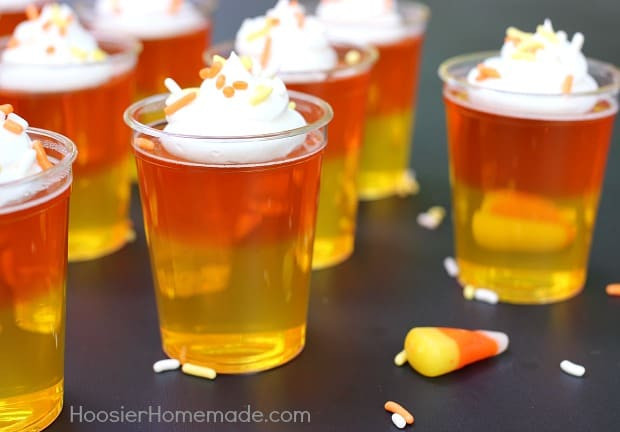Candy Corn Jello Shots  30 Crazy Candy Corn Recipes