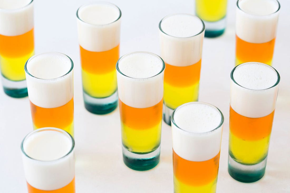Candy Corn Jello Shots  Party This Halloween With Candy Corn Jello Shots