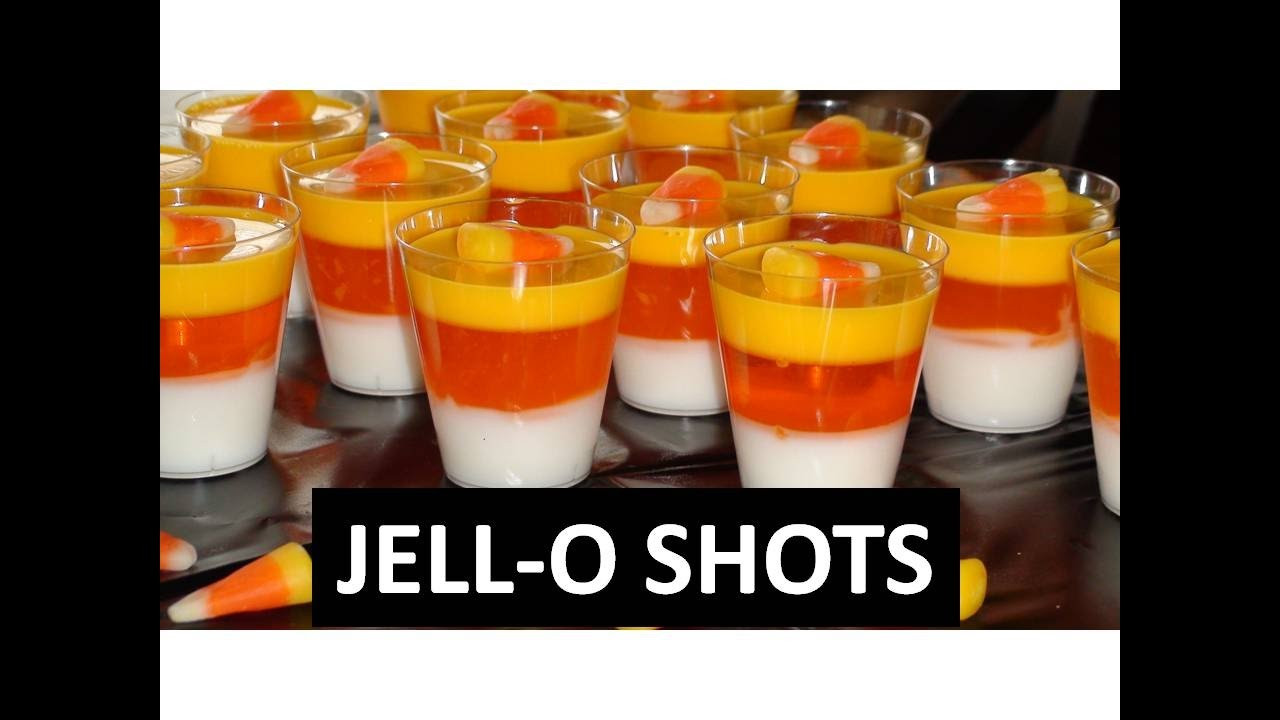 Candy Corn Jello Shots  How To Make Candy Corn Jello Shots