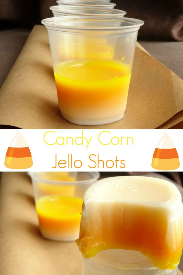 Candy Corn Jello Shots  Candy Corn Jello Shots Recipe throwing a Halloween party