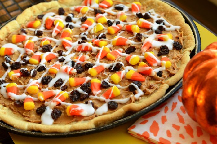 Candy Corn Pizza  Candy Corn Cookie Pizza Swanky Kitchen