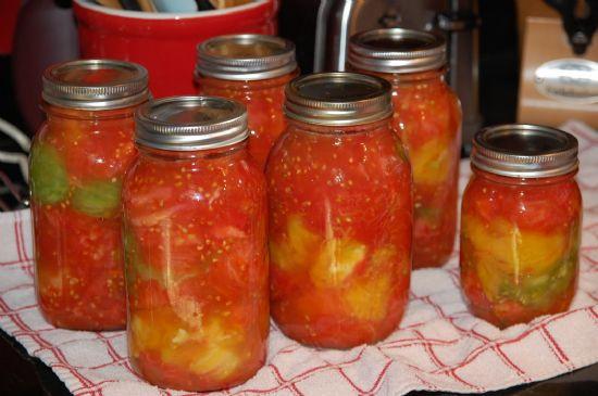 Canned Spaghetti Sauce  Homemade chunky spaghetti sauce for canning Recipe