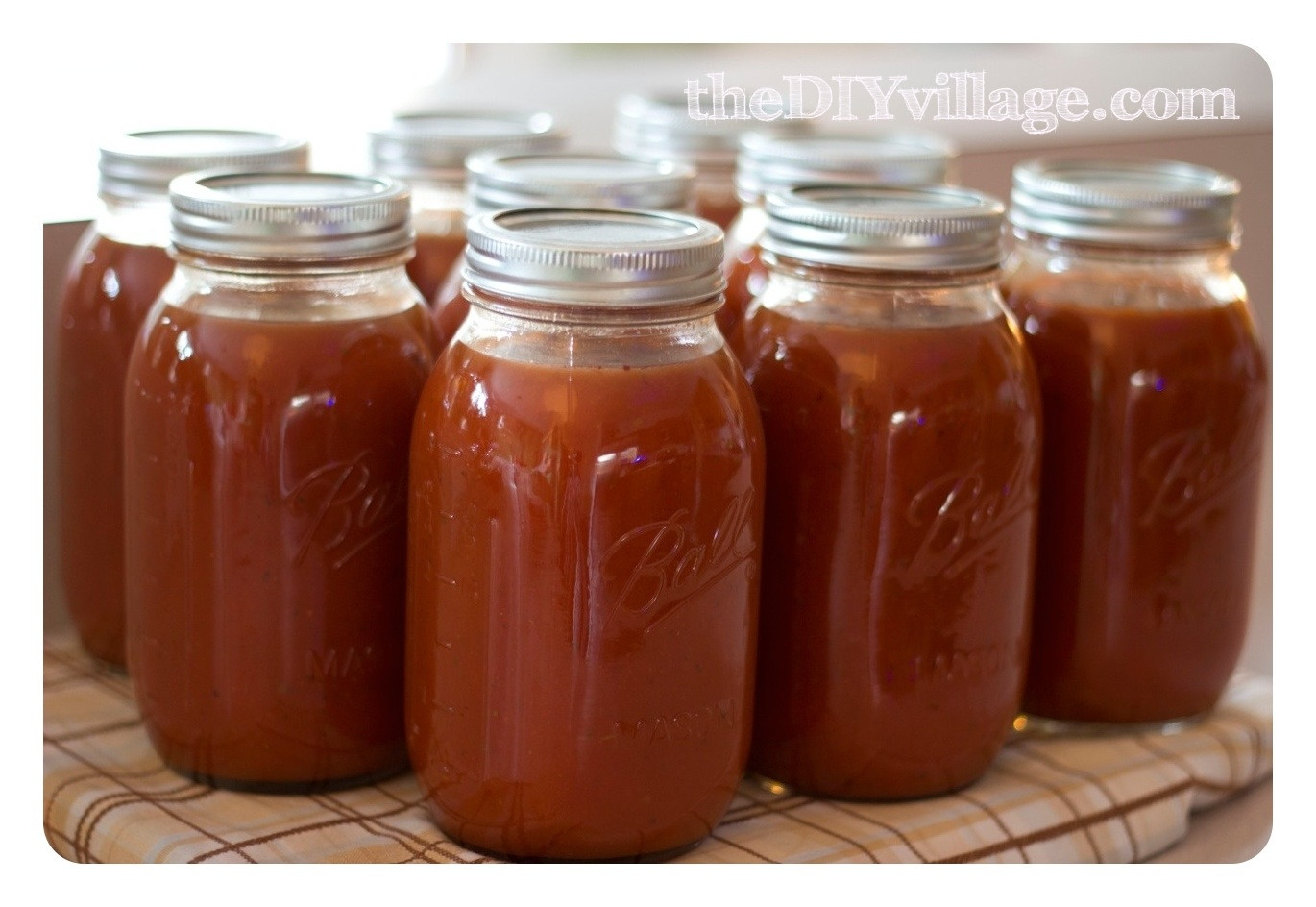 Canned Spaghetti Sauce  Canning Spaghetti Sauce Home Preserving  the DIY village