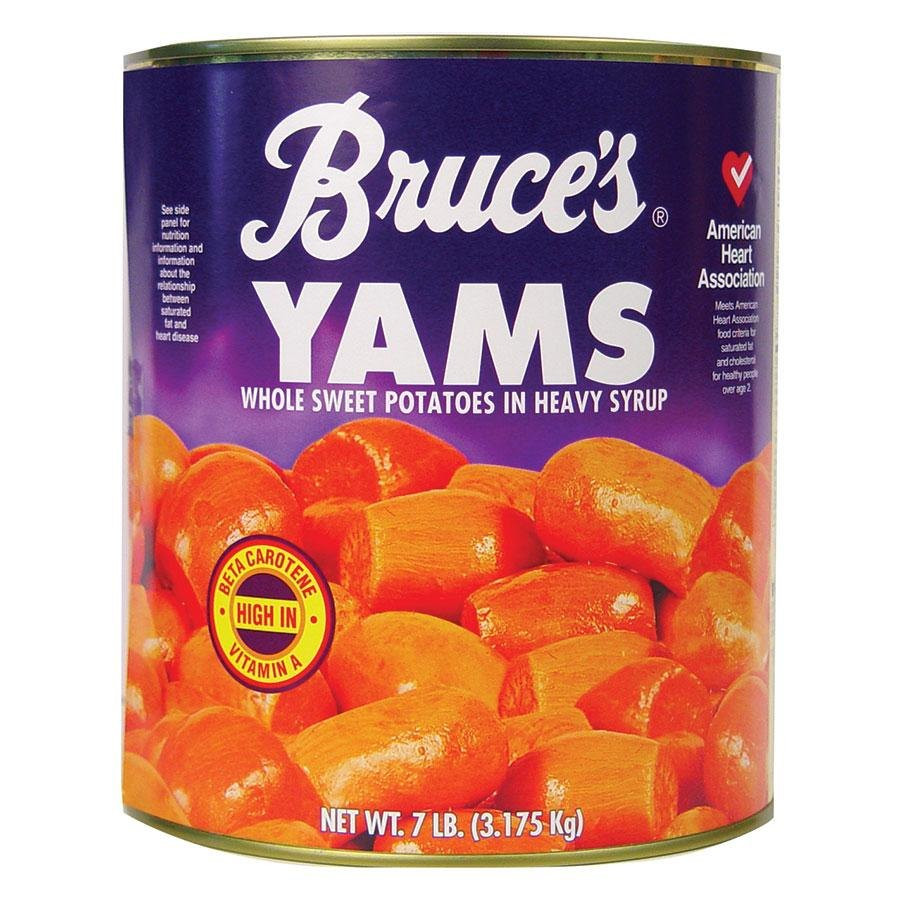 Canned Sweet Potato  Bruce s Whole Sweet Potatoes in Heavy Syrup 10 Can