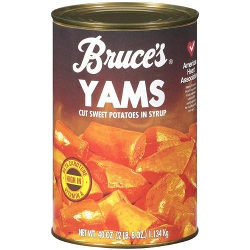 Canned Sweet Potato  Bruce s Yams 40 Oz