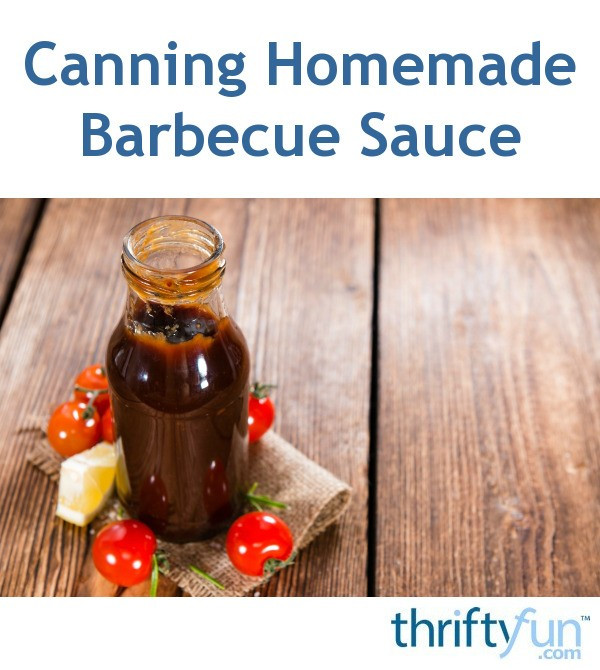 Canning Bbq Sauce  Canning Homemade Barbecue Sauce