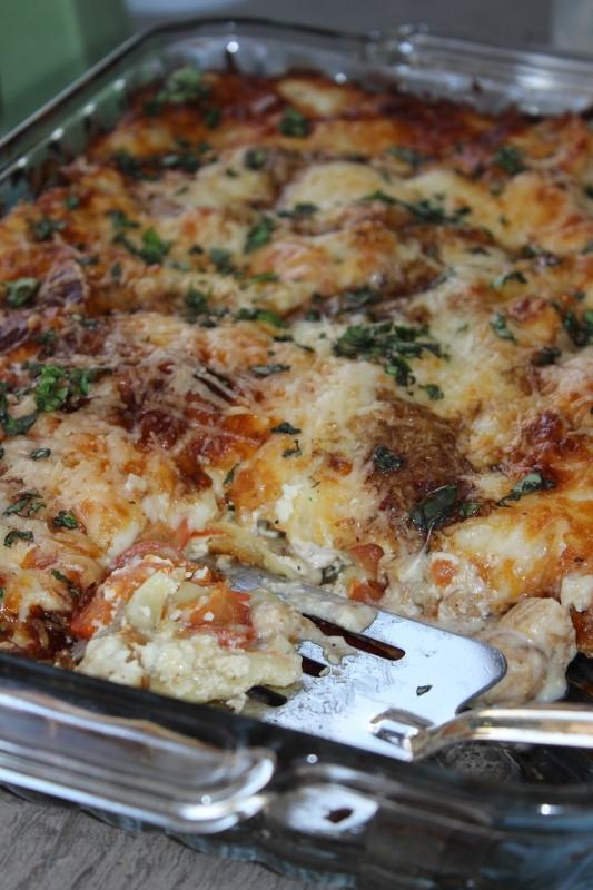 Caprese Chicken Lasagna  Front Range Fork And Cork Caprese Chicken Lasagna