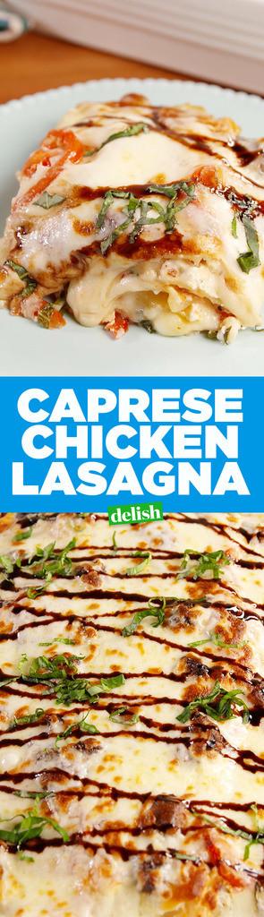 Caprese Chicken Lasagna  Best Caprese Chicken Lasagna Recipe How to Make Caprese