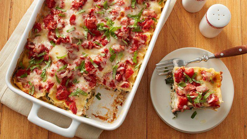 Caprese Chicken Lasagna  Chicken Alfredo Caprese Lasagna recipe from Betty Crocker