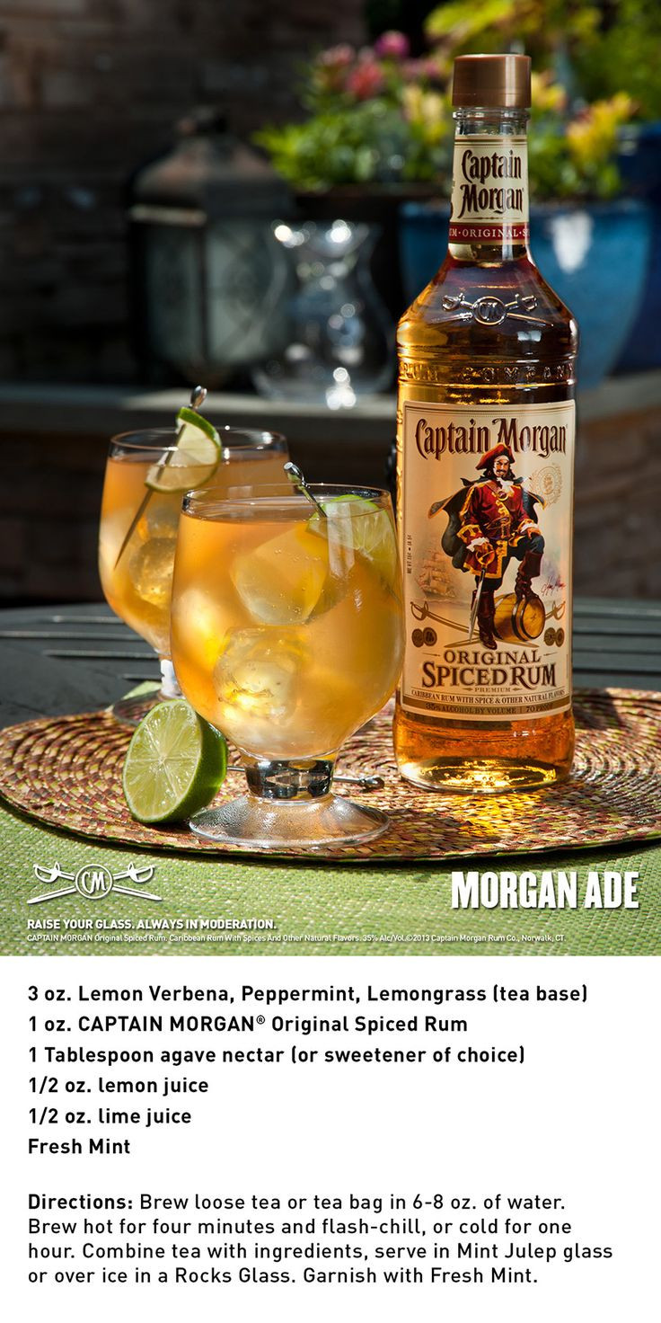 Captain Morgan Spiced Rum Drinks  56 best images about Captain Morgan drinks on Pinterest