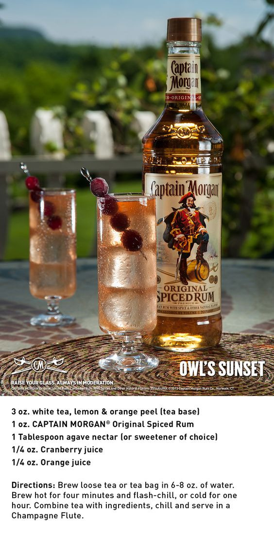 Captain Morgan Spiced Rum Drinks  Cocktails Spiced rum and Originals on Pinterest