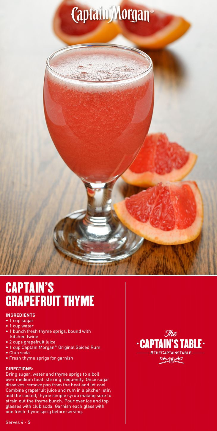 Captain Morgan Spiced Rum Drinks  spiced rum mixed drinks