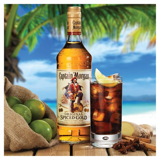Captain Morgan Spiced Rum Drinks  Captain Morgan Original Spiced Gold 70Cl Groceries