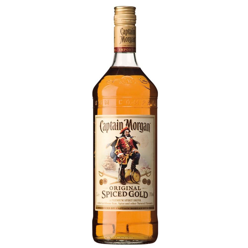 Captain Morgan Spiced Rum Drinks  Captain Morgan Spiced Gold Rum 1Ltr DrinkSupermarket