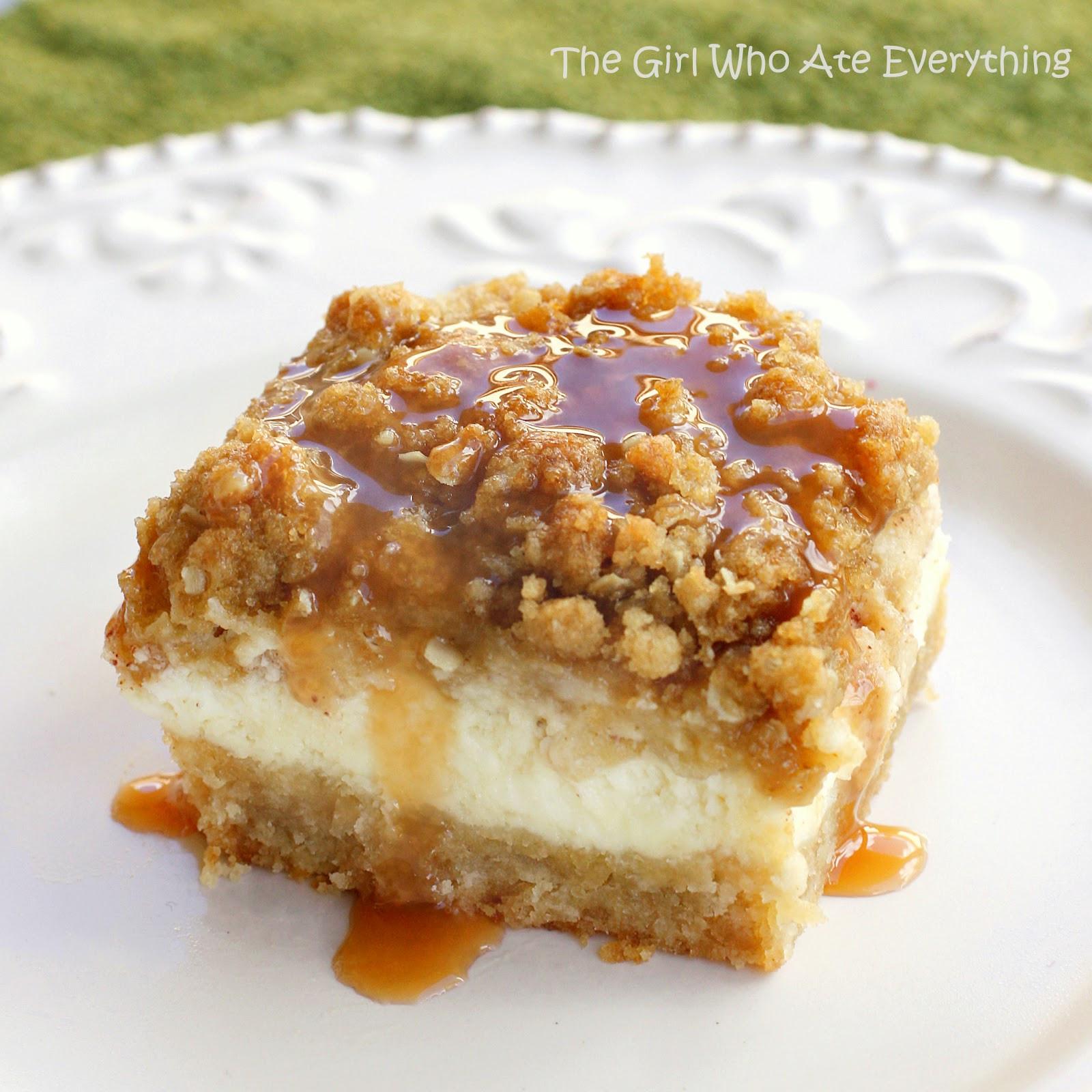 Caramel Apple Dessert  Caramel Apple Cheesecake Bars