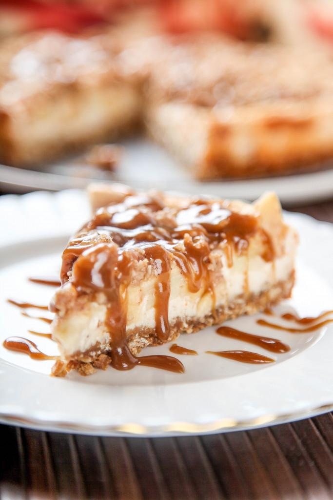 Caramel Apple Dessert  Caramel Apple Crisp Cheesecake Baking Beauty