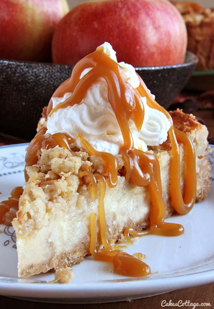 Caramel Apple Dessert  Caramel Apple Crisp Cheesecake Cakescottage
