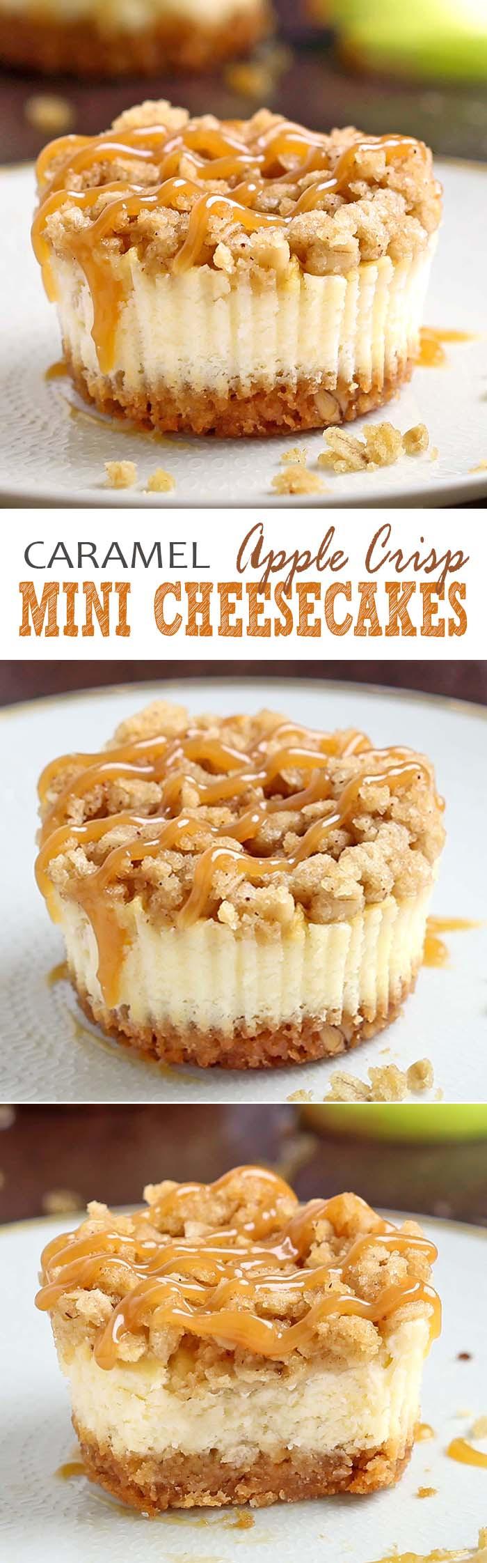 Caramel Apple Dessert  Caramel Apple Crisp Mini Cheesecakes Cakescottage