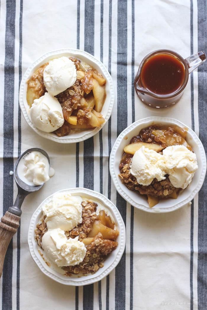 Caramel Apple Dessert  Salted Caramel Apple Crisp Love Grows Wild