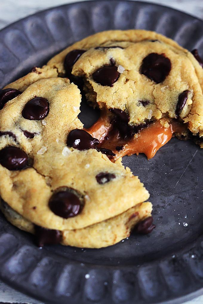 Caramel Chocolate Chip Cookies  Salted Caramel Chocolate Chip Cookies