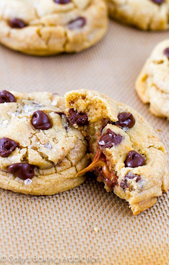 Caramel Chocolate Chip Cookies  Salted Caramel Chocolate Chip Cookies Sallys Baking