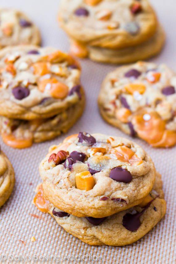 Caramel Chocolate Chip Cookies  Salted Caramel Pecan Chocolate Chip Cookies Sallys