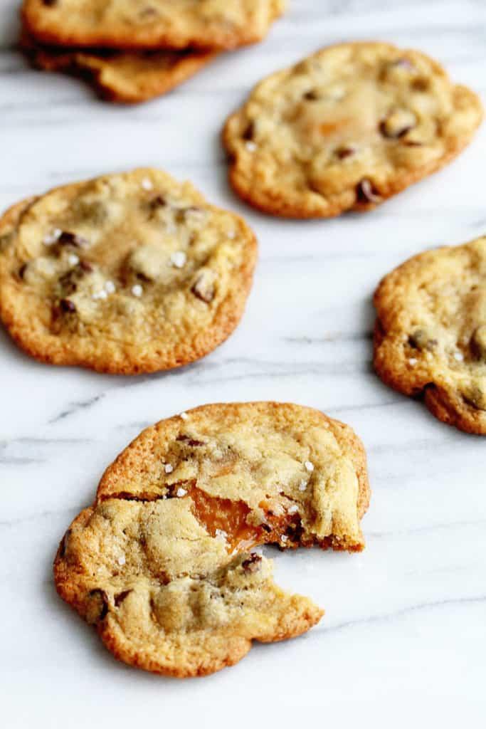 Caramel Chocolate Chip Cookies  Salted Caramel Chocolate Chip Cookies Grandbaby Cakes