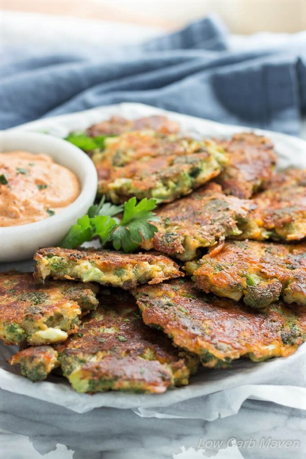 Carb Free Dinners  Broccoli Fritters With Cheddar Cheese Easy Low Carb
