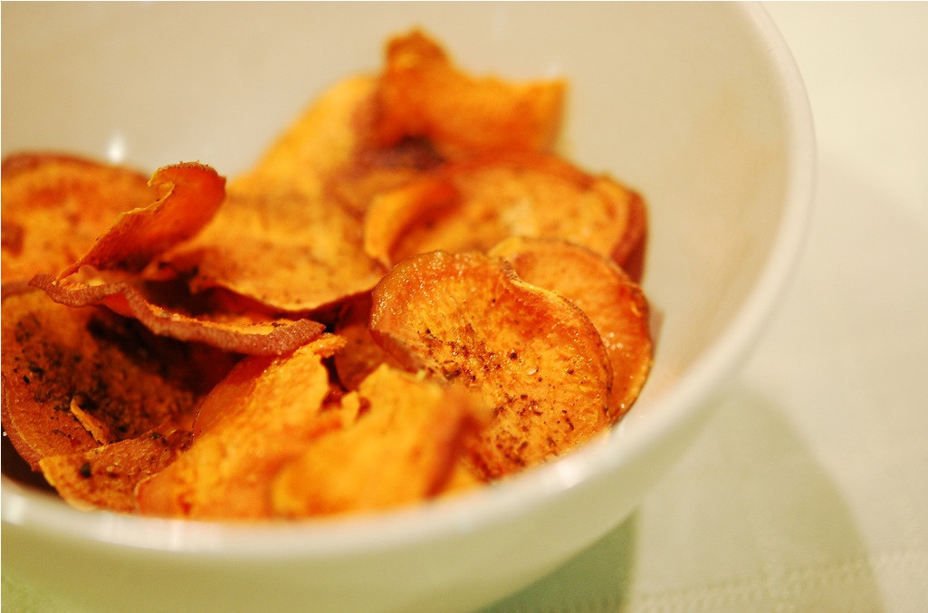 Carbs In A Baked Potato  Baked Sweet Potato Chips Low Carb Just Paleo Food