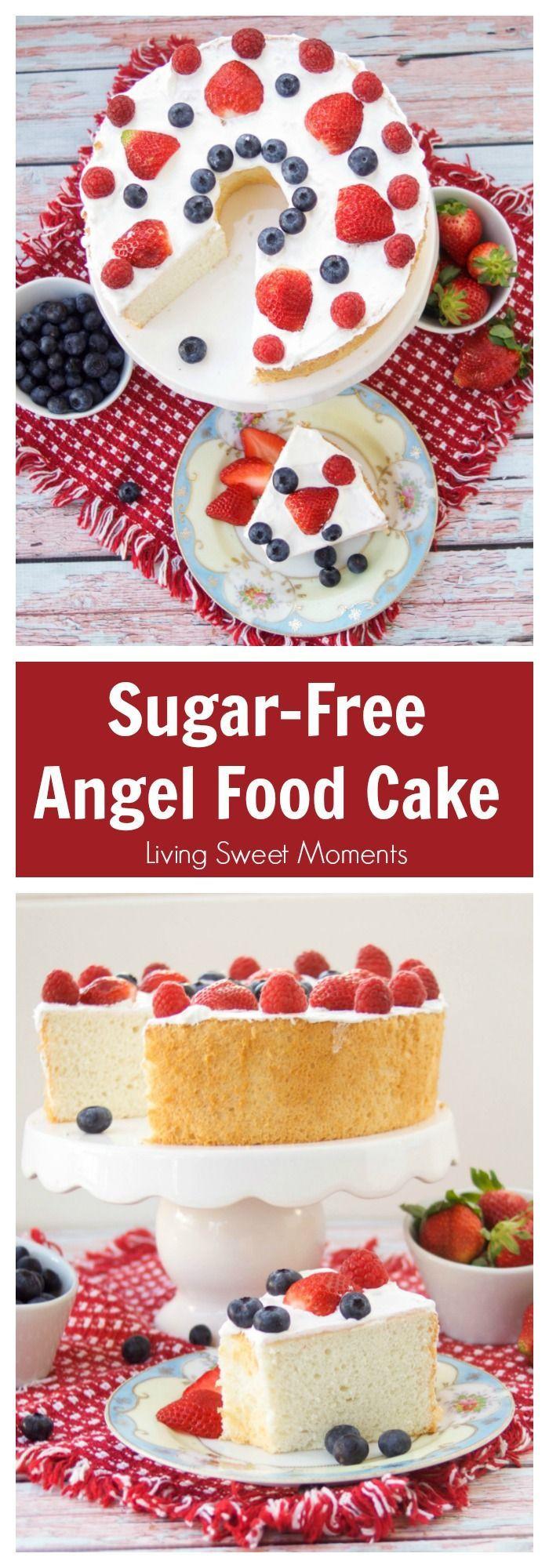 Carbs In Angel Food Cake  Sugar Free Angel Food Cake Recipe