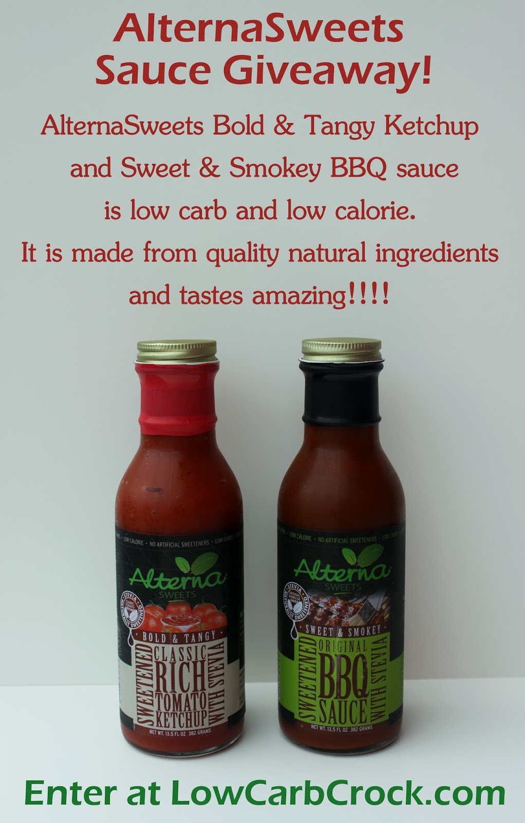 Carbs In Bbq Sauce  Enter My AlternaSweets Giveaway Low Carb Ketchup and