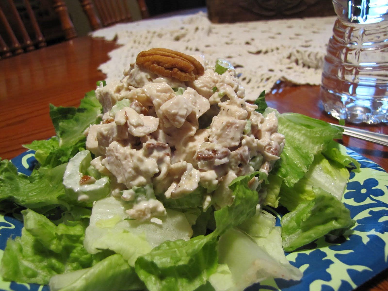 Carbs In Chicken Salad  Low Carb Living Pecan Chicken Salad Faithfulness Farm