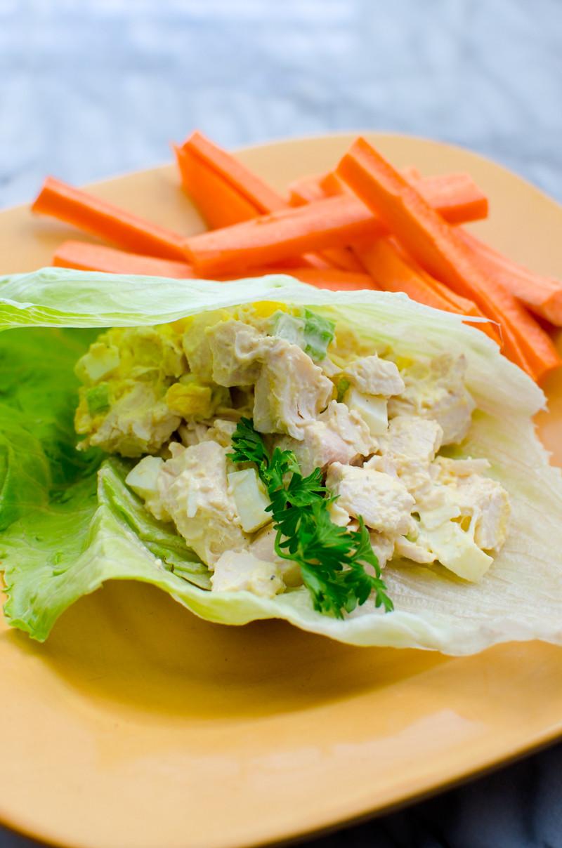 Carbs In Chicken Salad  Low Carb Crunchy Chicken Salad A Grande Life
