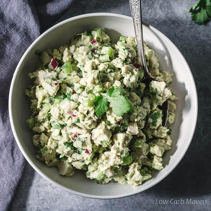 Carbs In Chicken Salad  Avocado Chicken Salad Low Carb Keto