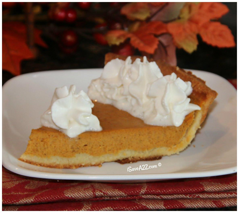 Carbs In Pumpkin Pie  Low Carb Pumpkin Pie Recipe iSaveA2Z