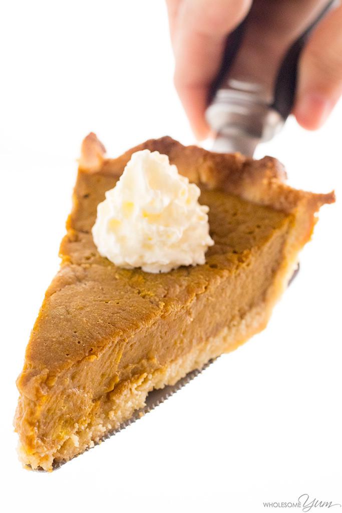 Carbs In Pumpkin Pie  Easy Keto Low Carb Pumpkin Pie Recipe Sugar Free Gluten