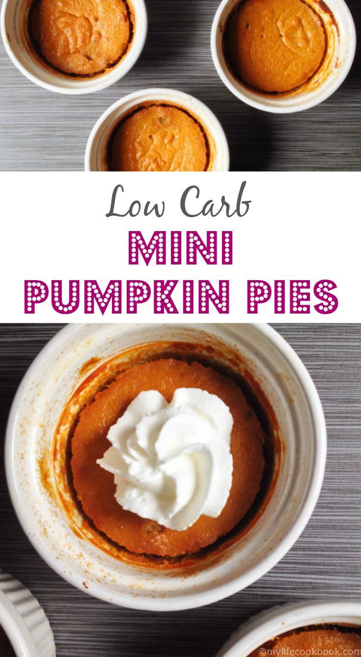 Carbs In Pumpkin Pie  Mini Low Carb Pumpkin Pies