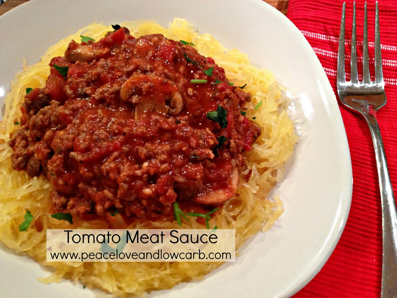 Carbs In Tomato Sauce  Tomato Meat Sauce Recipe and my new Spirelli Spiral Slicer