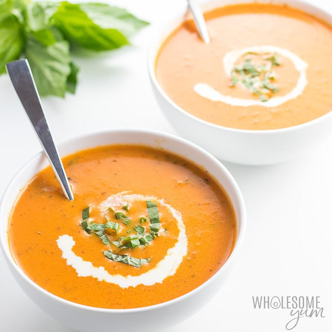 Carbs In Tomato Soup  Keto Low Carb Roasted Tomato Soup Recipe