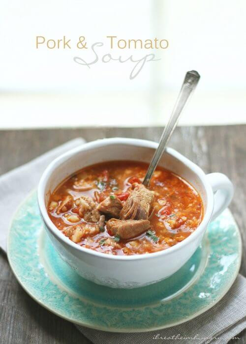 Carbs In Tomato Soup  Pork and Tomato Low Carb Soup Recipe